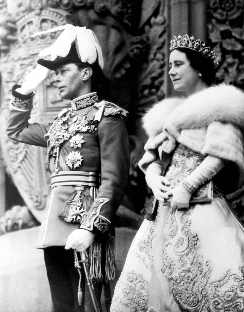 King George VI, Queen Elizabeth, at the Parliament Building, Ottawa, Canada, May 19, 1939, CSU Archives/Courtesy Everett Collection : Stock Photo