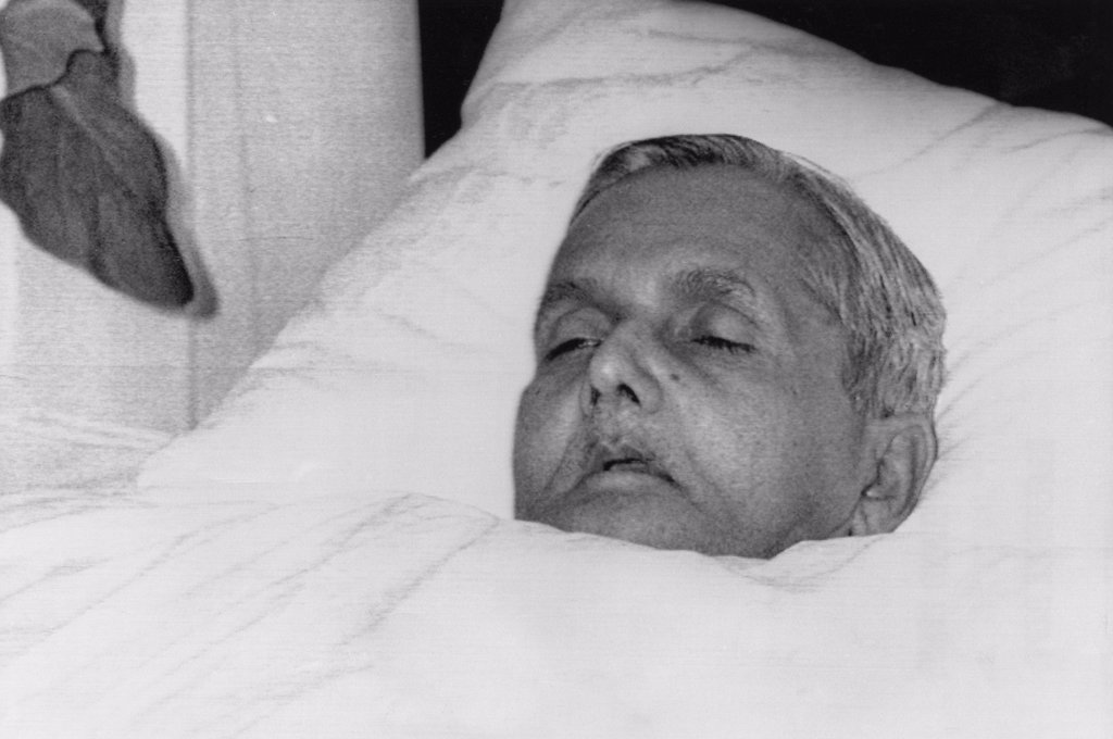 Stock Photo: 4048-1597 The body of Indian Prime Minister Lal Bahadur Shastri, January 10, 1966