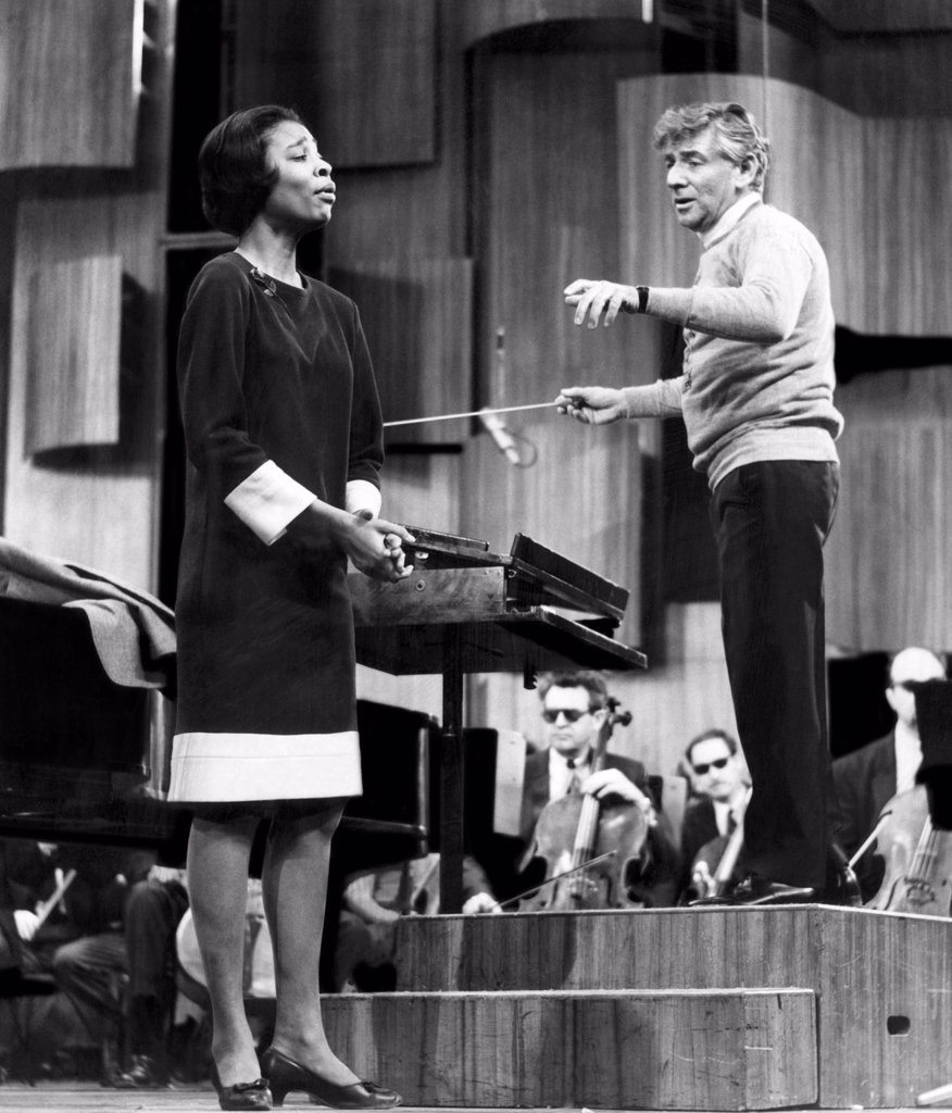 Marian Anderson and Leonard Bernstein, 1967 : Stock Photo
