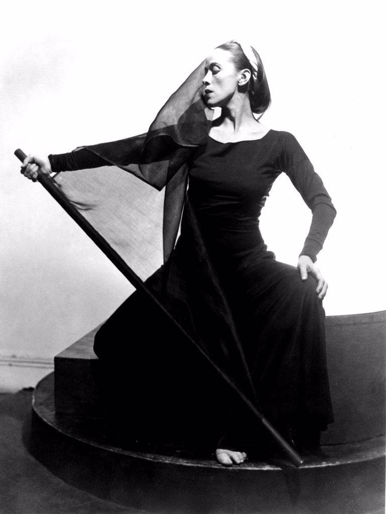 Stock Photo: 4048-1655 Martha Graham in her TRAGIC HOLIDAY, CA. 1937.