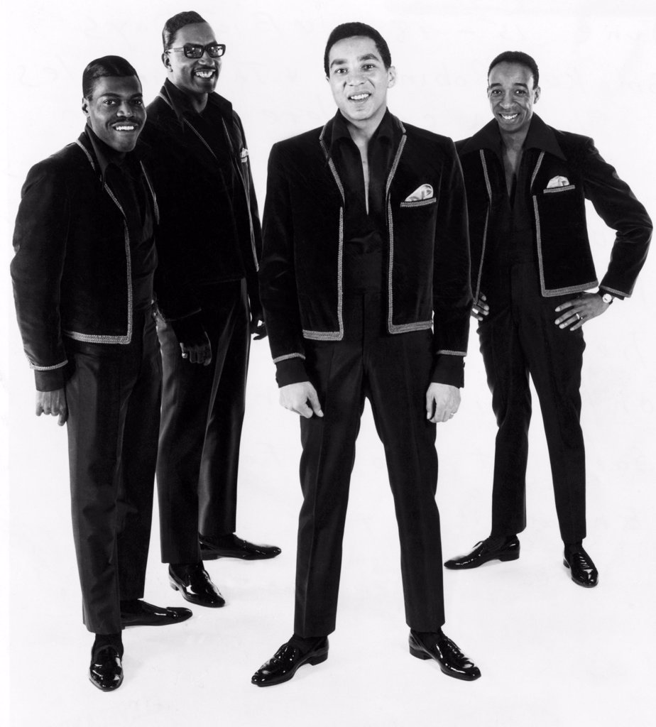 Stock Photo: 4048-1691 American R&B group The Miracles, L-R: Pete Moore, Bobby Rogers, Smokey Robinson, Ronald White, 1967.