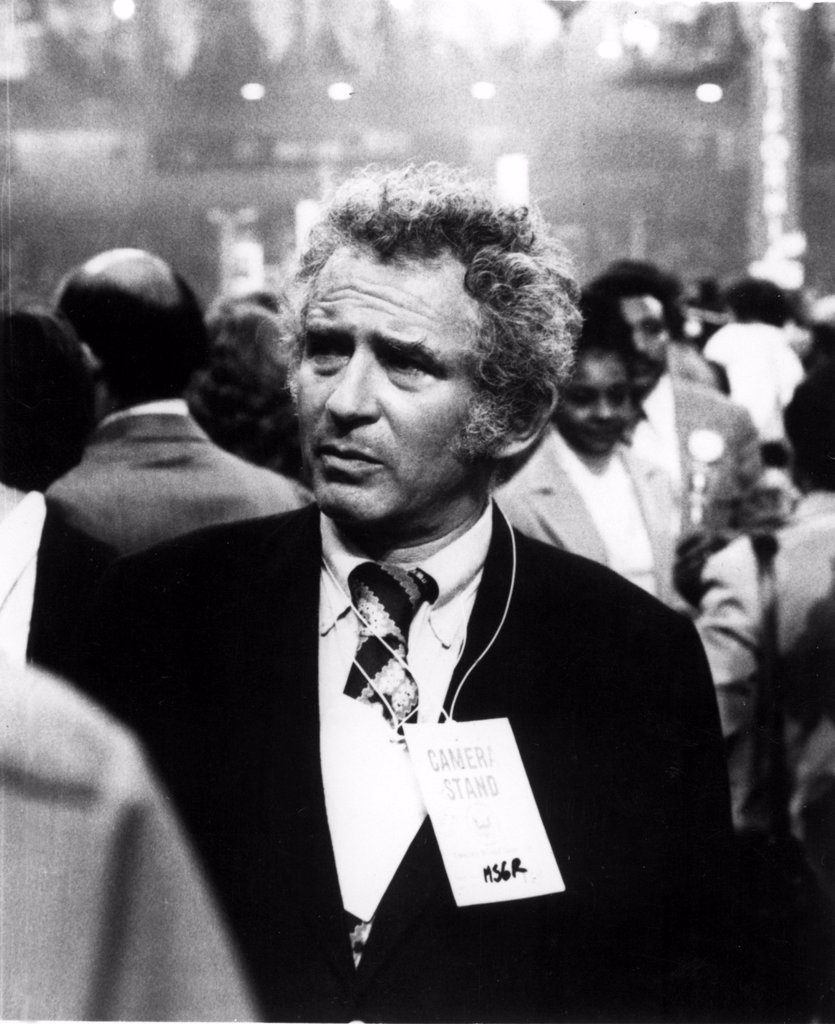 Stock Photo: 4048-1828 Author Norman Mailer at a political convention in 1972.