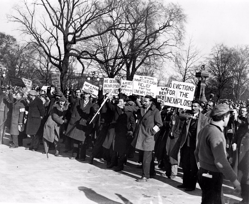 PROTEST, Washington, D.C., 12/7/31. : Stock Photo