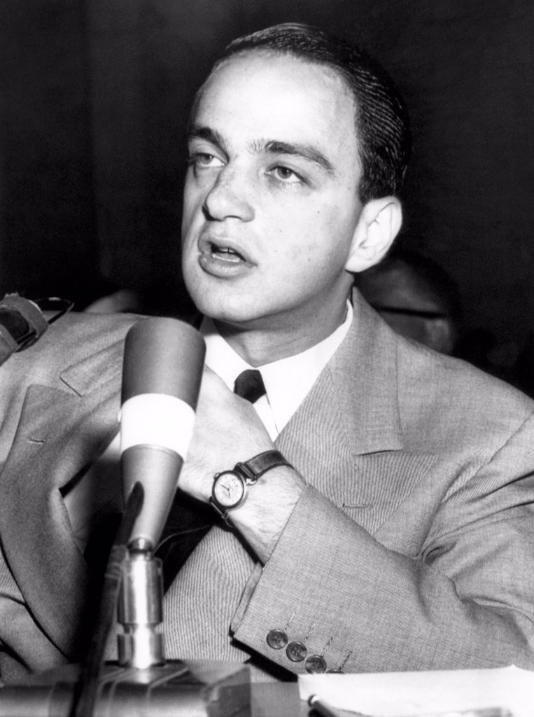 Stock Photo: 4048-1944 Roy Cohn at the McCarthy-Army hearings, 1954