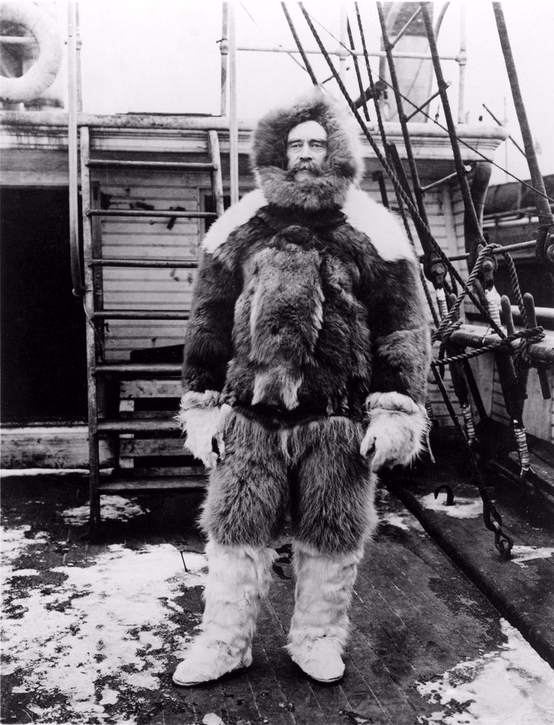 Stock Photo: 4048-1948 ROBERT E. PEARY-Commanter of the expedition to the North Pole, (1902-1905).