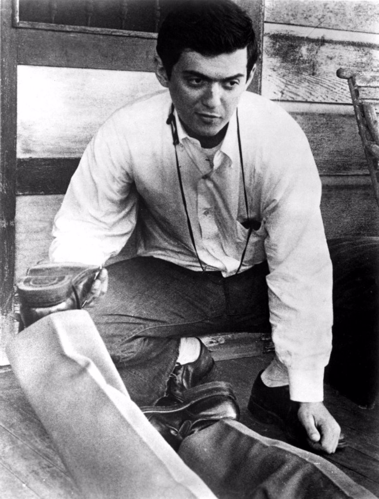 Stock Photo: 4048-2008 Stanley Kubrick on the set of his first film, FEAR AND DESIRE (1954). He was the writer, director and technical crew for this production.