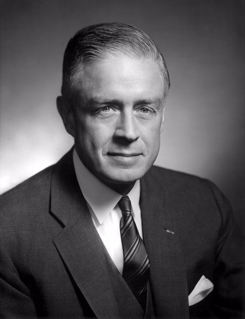 Stock Photo: 4048-2050 Thomas J. Watson, Jr., president of IBM in an undated portrait.