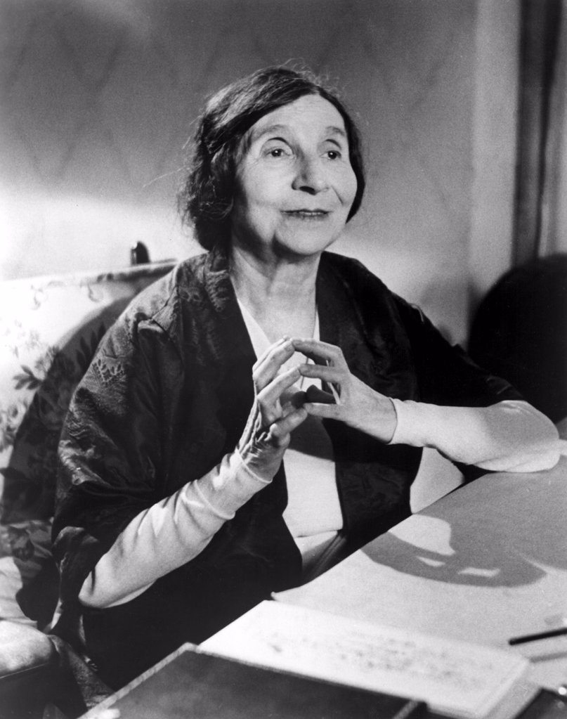 Wanda Landowska, harpsichordist, in the 1950s : Stock Photo