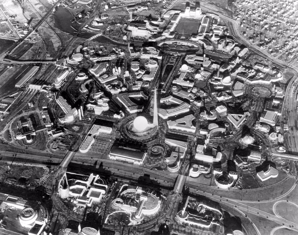 Stock Photo: 4048-2157 Aerial view of the 1939 New York World's Fair, Flushing, New York