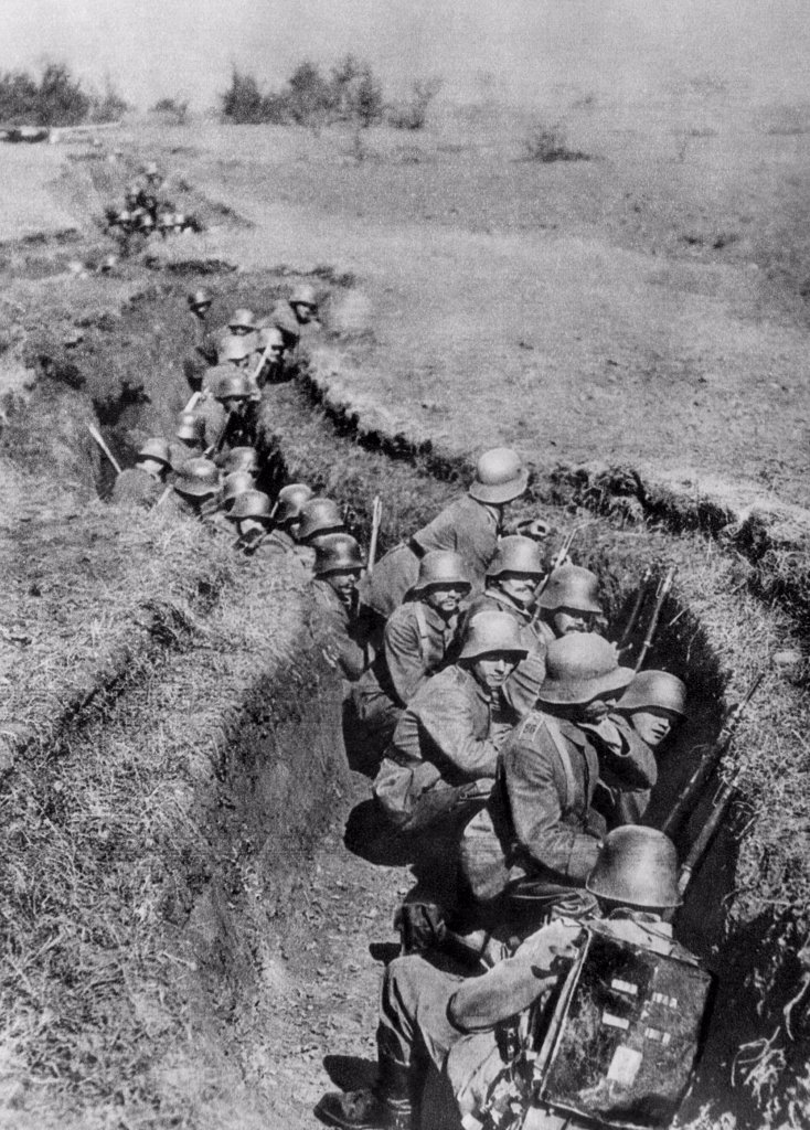 Stock Photo: 4048-2194 World War I: German Shock Troops, circa 1917