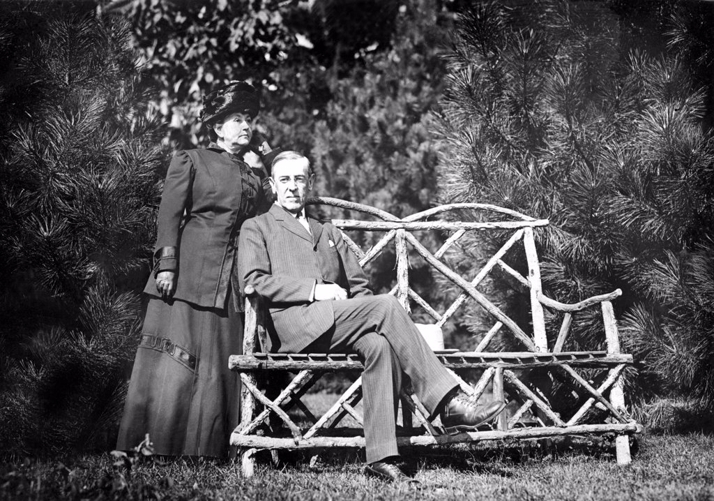 Woodrow Wilson and wife,  January 31, 1912.   CSU Archives : Stock Photo