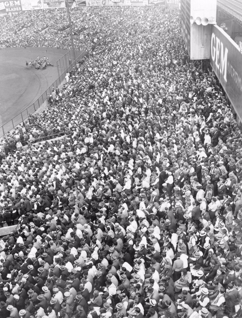 Stock Photo: 4048-2235 Yankee Stadium Bleachers, New York, 1937