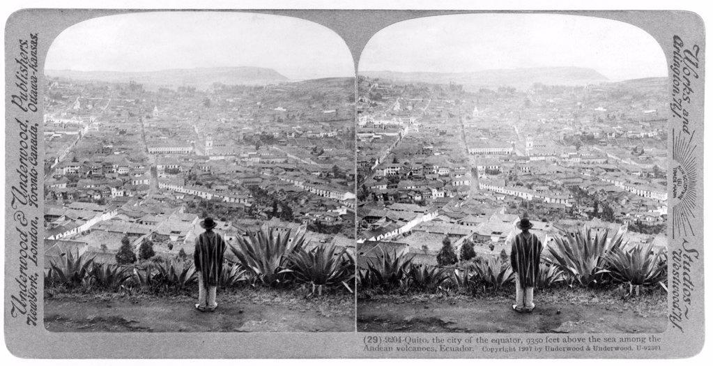 Quito, Ecuador, by Underwood & Underwood, circa 1907. : Stock Photo