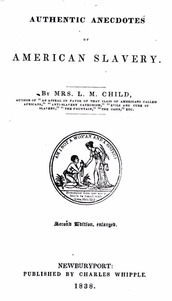 Slavery. An abolitionist book. The title page reads: Immediate, Not Gradual Abolition: or, An Inquiry into the Shortest, Safest and Most Effectual Means of Getting Rid of West Indian Slavery, Boston, published by Isaac Knapp, No. 25 Cornhill, 1838. : Stock Photo