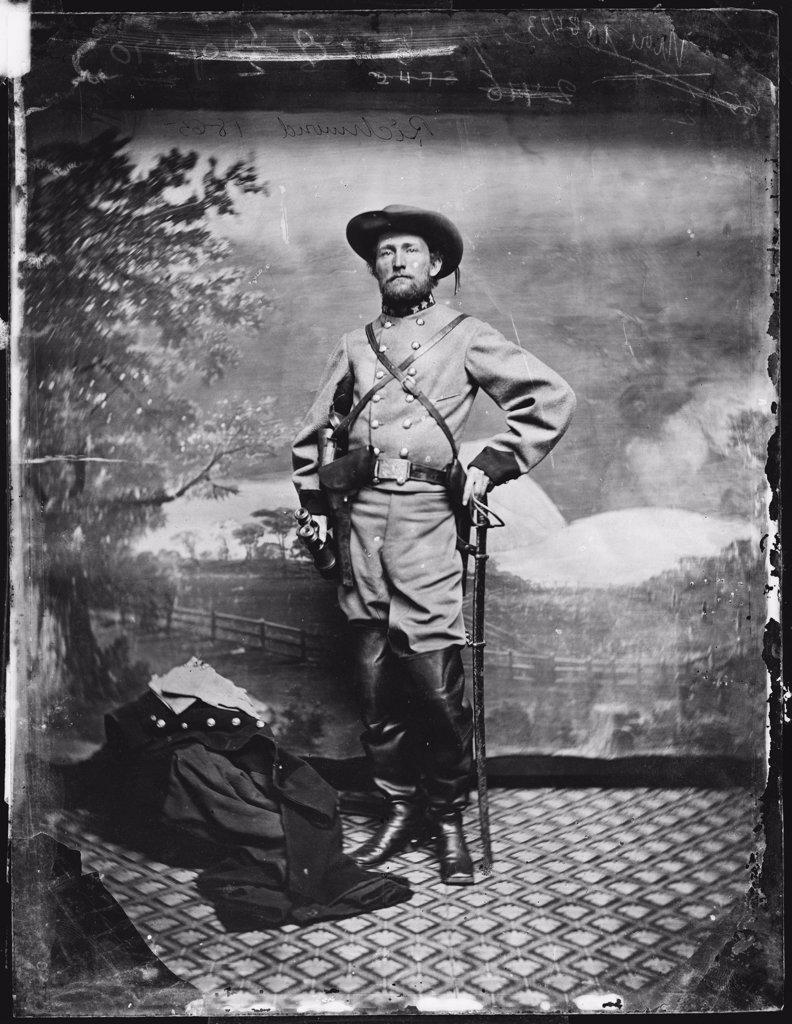 The Civil War, Colonel John S. Mosby (1833-1916), C.S.A., Richmond, Virginia, 1865. : Stock Photo