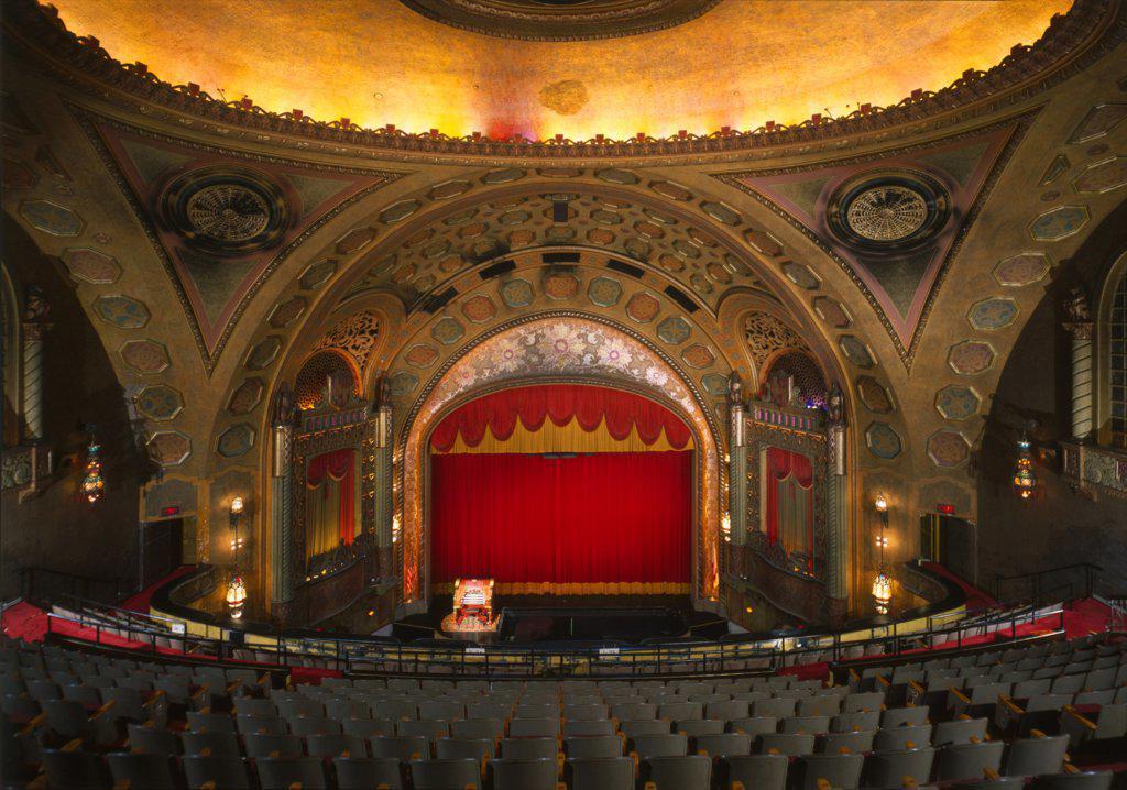 Stock Photo: 4048-2623 The Alabama Theatre, Birmingham, Alabama, erected in 1927, photograph circa 1990s.
