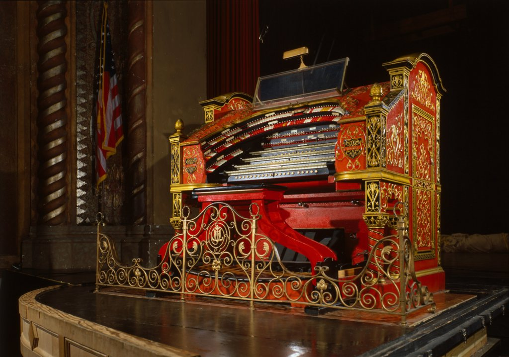 The Alabama Theatre, the organ, Birmingham, Alabama, erected in 1927, photograph circa 1990s. : Stock Photo