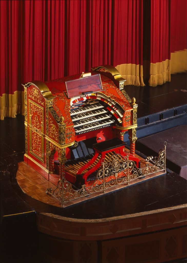 Stock Photo: 4048-2626 The Alabama Theatre, the organ, Birmingham, Alabama, erected in 1927, photograph circa 1990s.