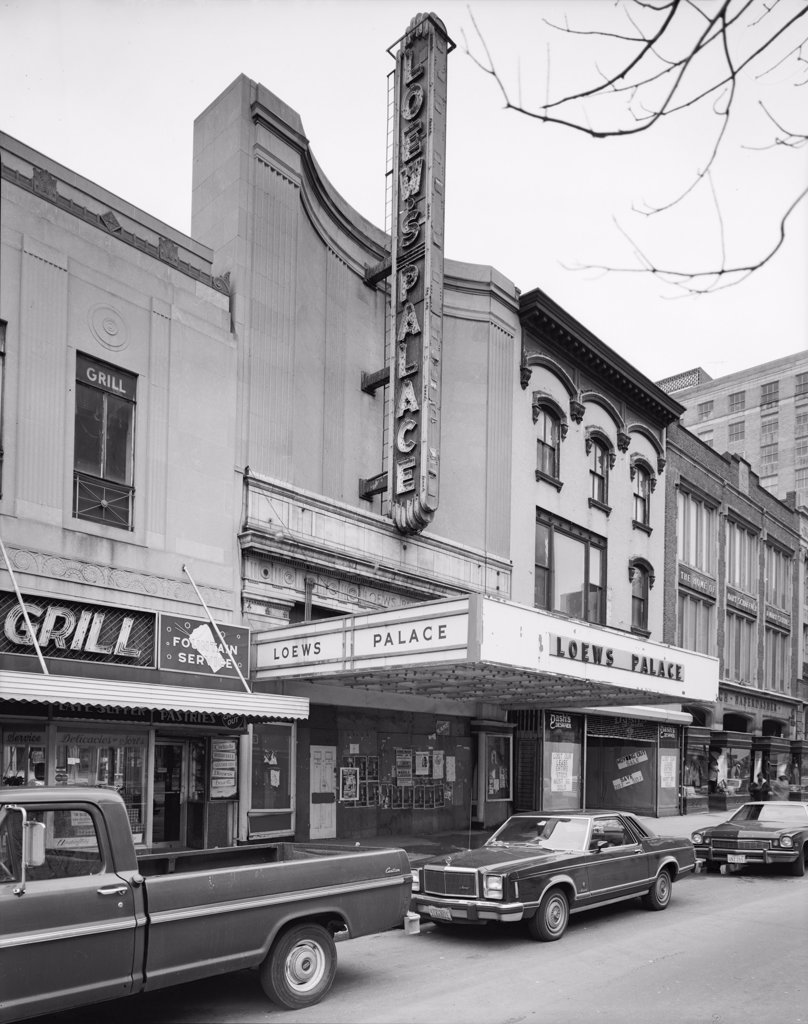 Stock Photo: 4048-2638 Loew's Palace Theatre, designed by Thomas W. Lamb in 1917, 1306 F Street Northwest, Washington, District of Columbia, DC, circa early 1980s.