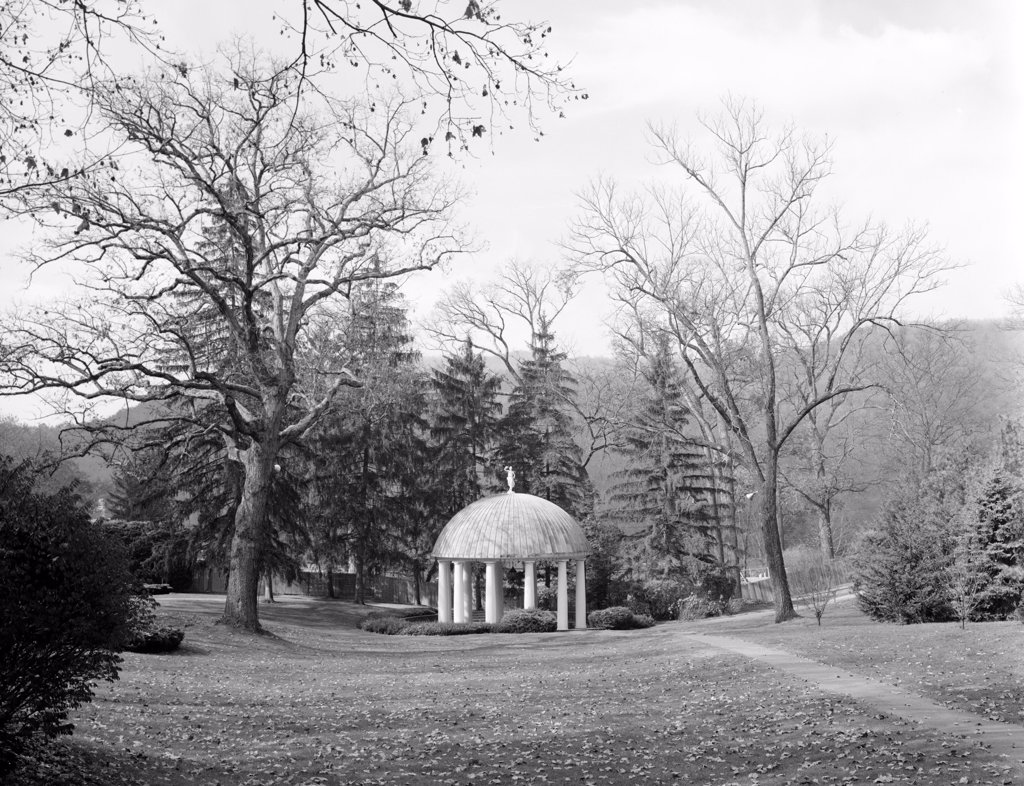 Stock Photo: 4048-4479 The Greenbrier, Spring House. White Sulphur Springs pavilion covers the complex's sulphur springs. West Virginia, 1830s, phot0 1983