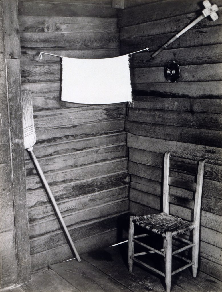 Stock Photo: 4048-5016 The corner of the kitchen in the home of Floyd Burroughs, cotton sharecropper