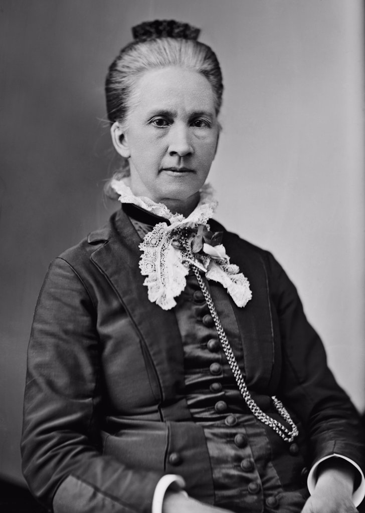 Belva Lockwood (1830-1917), was a lawyer, politician and life long feminist. In 1879, she became the first women to be allowed to practice before the U.S. Supreme Court and ran for president in 1884 and 1888 on the ticket of the National Equal Rights Party. : Stock Photo