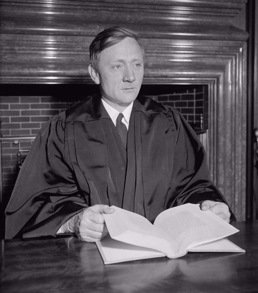 Stock Photo: 4048-6732 William Orville Douglas, 40 year old successor to retired Justice Louis D. Brandeis, before be was sworn in on April 17, 1939. He was appointed by Franklin Roosevelt and served until 1975.