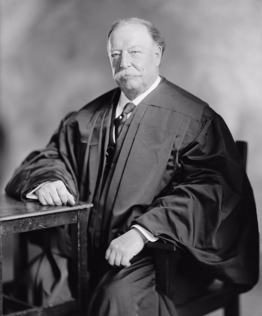 William Howard Taft (1857-1930), tenth Chief Justice of the United States Supreme Court from 1921 through 1930. The former one-term Republican president was appointed by Warren Harding. : Stock Photo