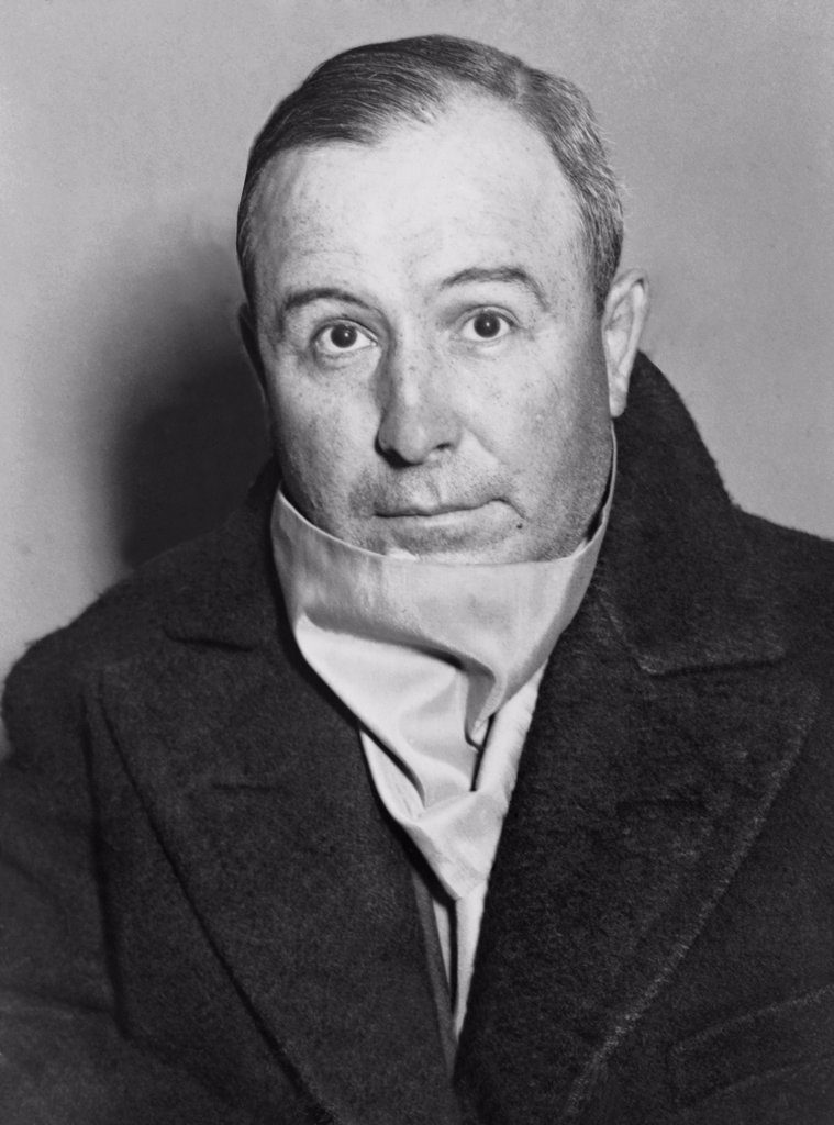 Stock Photo: 4048-7702 John Torrio 1882-1957 was head of the Chicago Outfit in the 1920s until he was nearly killed in a 1925 assassination attempt after which Al Capone took charge. Torrio returned to Chicago when Capone's leadership was impaired by government prosecutions