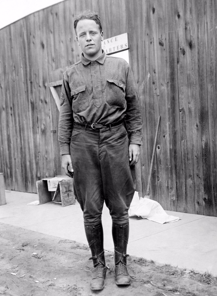 Lt. Quentin Roosevelt, son of former Theodore Roosevelt. He joined the United States Army Air Service in World War I and was killed in aerial combat over France on July 14, 1918. : Stock Photo