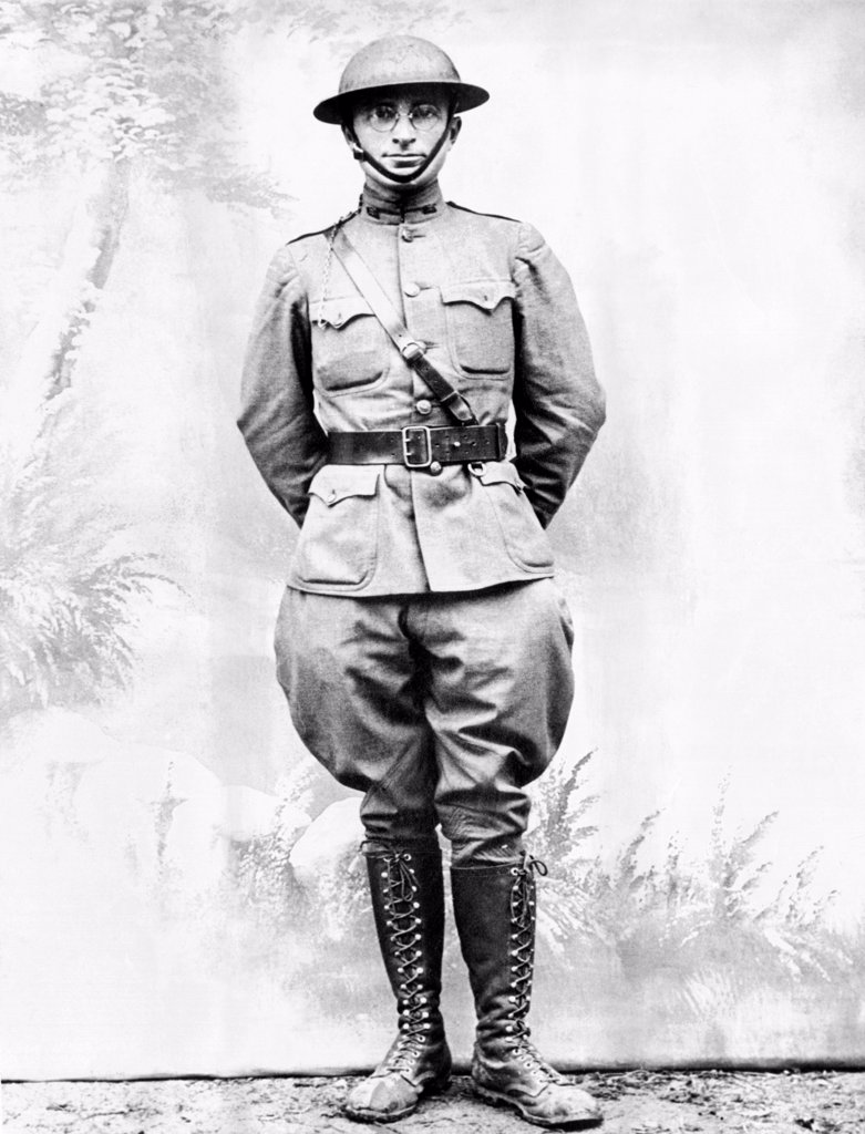 Future President Harry Truman as an infantryman in World War I. Ca. 1917. : Stock Photo