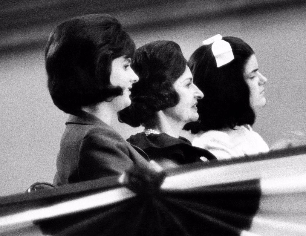 Stock Photo: 4048-9435 The 'LBJ ladies' at the 1964 National Democratic Convention in Atlanta. L-R: Lynda Bird Johnson, Lady Bird Johnson, and Lucy Baines Johnson. Sept. 3, 1964.