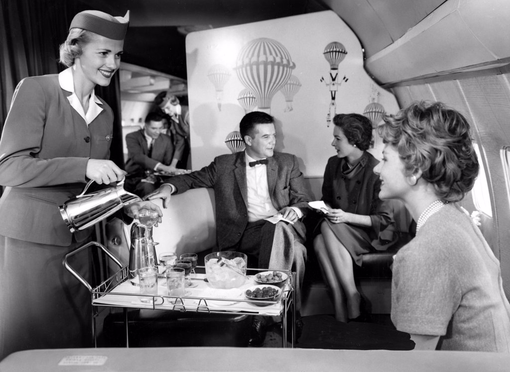 Stock Photo: 4048-977 Pan Am Airlines introduces the Boeing 707 airplane, 1958