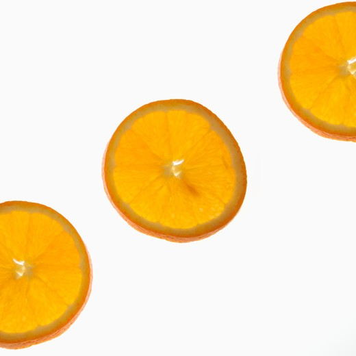 Stock Photo: 4049R-167 Close-up of orange slices