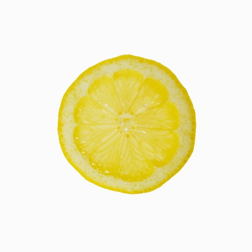 Close-up of a lemon slice : Stock Photo