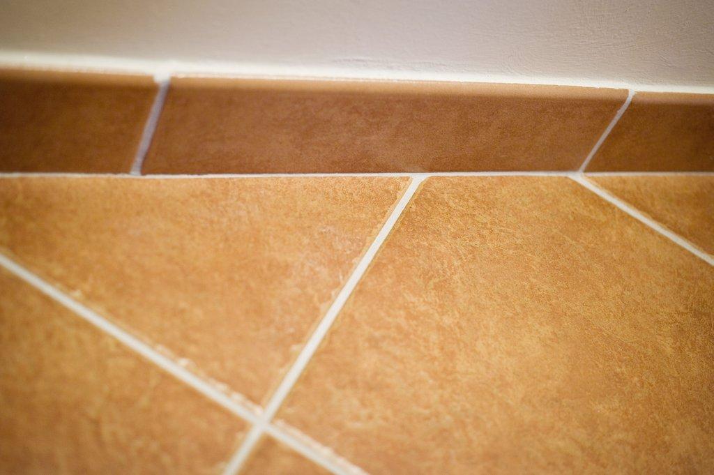 Detail red ceramic tile : Stock Photo