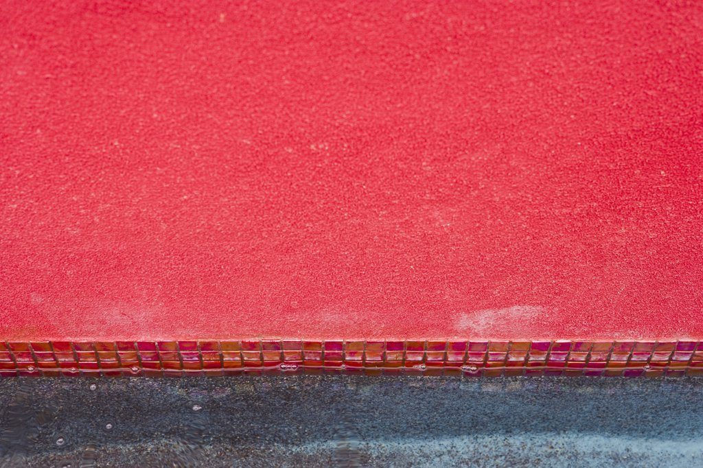 Stock Photo: 4053-2267 Detail pink wall with mosaic tile