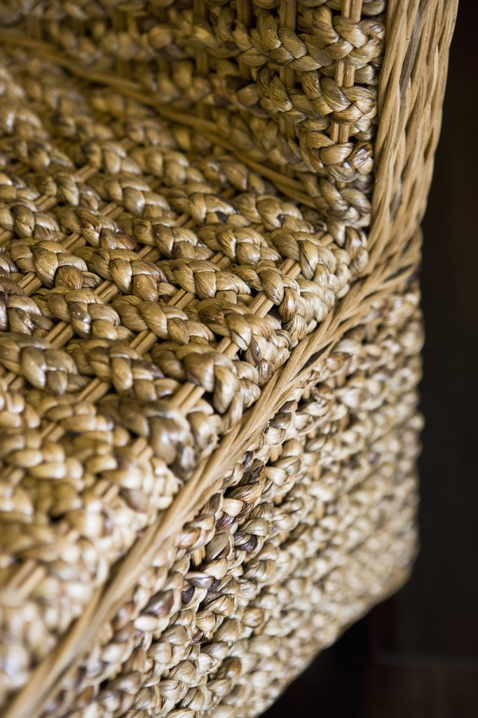 Stock Photo: 4053-2387 Close up wicker chair