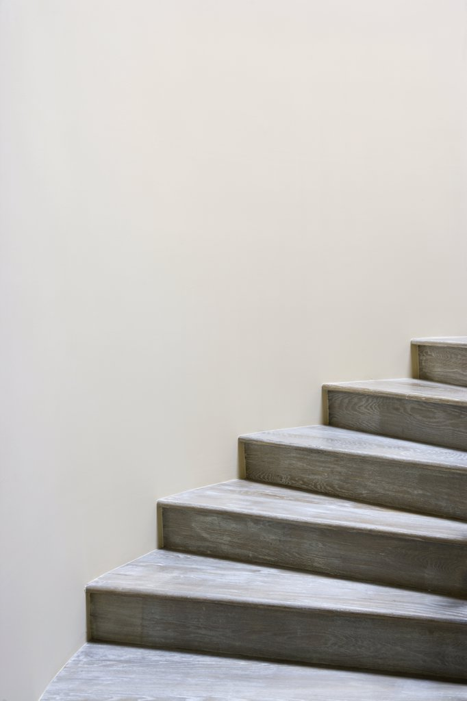 Stock Photo: 4053-2795 Detail wooden staircase