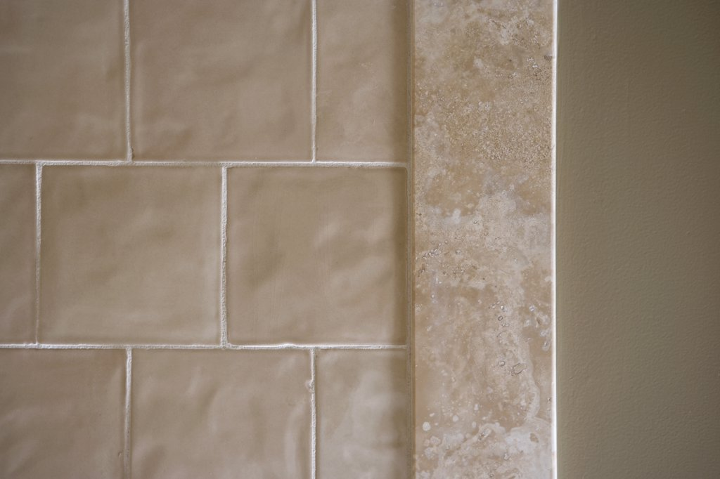 Tile and wall, detail : Stock Photo