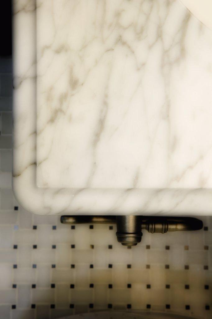 Stock Photo: 4053-5872 Detail marble countertop