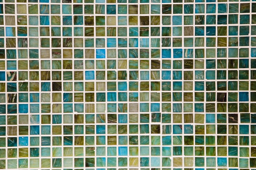 Detail colorful mosaic tile backsplash : Stock Photo