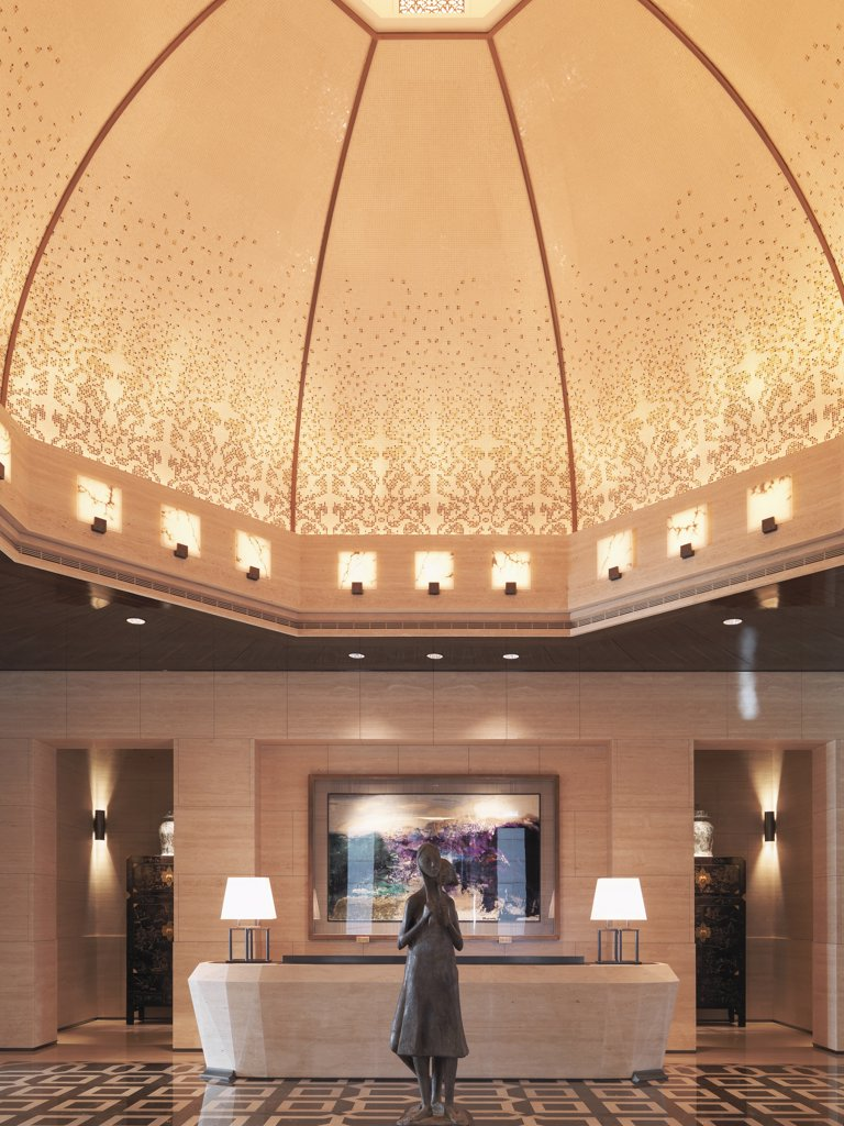 Stock Photo: 4053-6128 Dome and reception desk in lobby