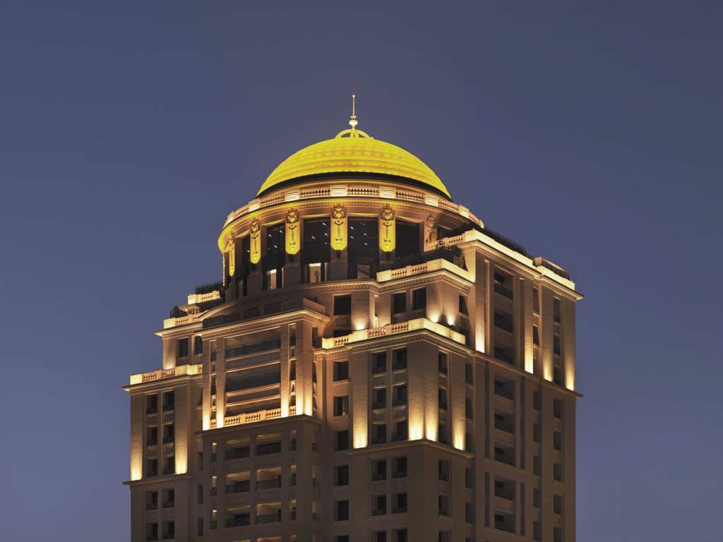 Dome on top of modern apartment building : Stock Photo