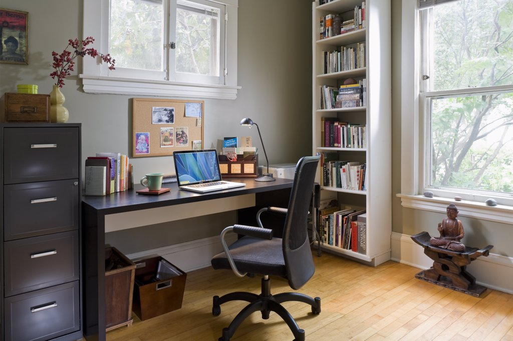 Contemporary home office : Stock Photo