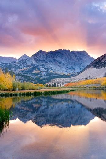 North Lake Sunset, Eastern Sierra, California : Stock Photo