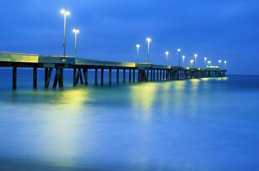 Venice Pier, Venice Beach, California (LA) : Stock Photo