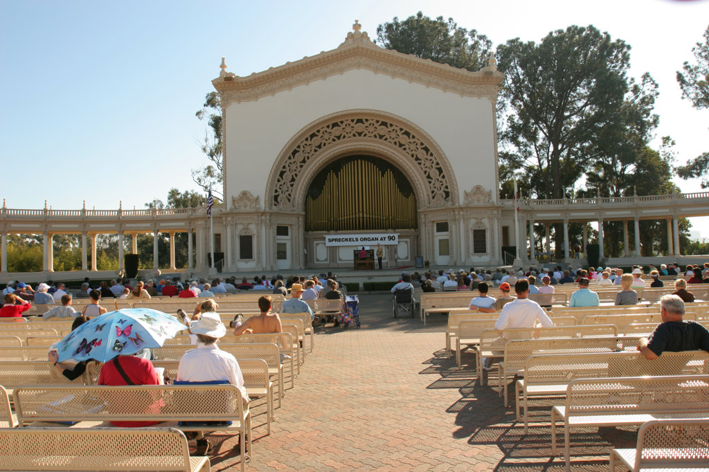 Spreckels Organ, Balboa Park, San Diego, California (SD) : Stock Photo