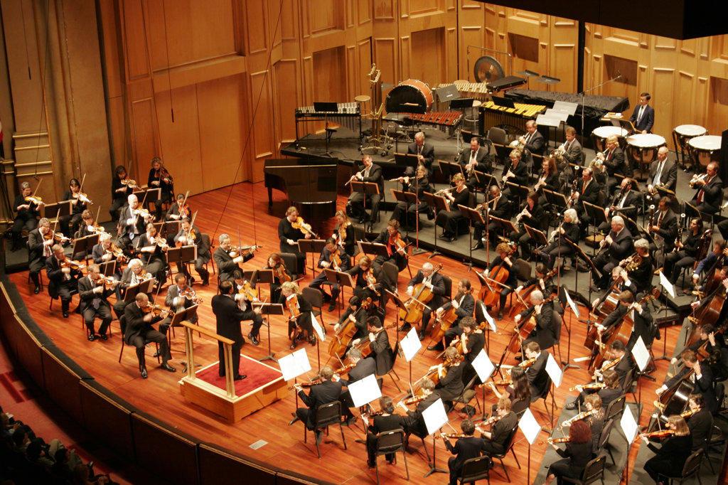 Stock Photo: 4055-2326 San Diego Symphony Orchestra, Jahja Ling Conductor, Copley Symphony Hall, San Diego, California (SD)