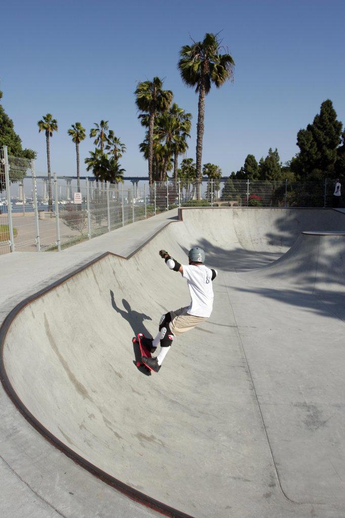 Stock Photo: 4055-2333 Skateboard Park, Coronado Island, San Diego, California (SD)